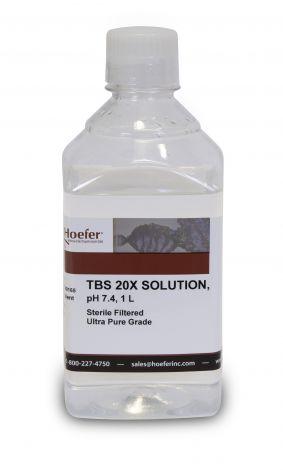 TBS, 20X Solution, pH 7.4